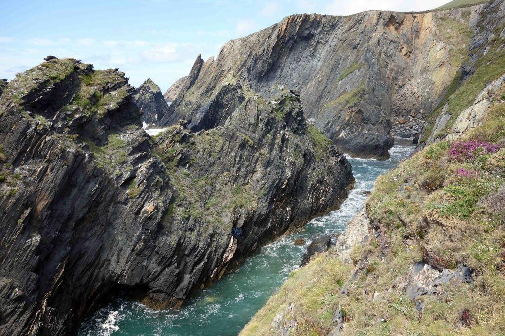 Cliffs at Playa de Esteiro, Galicia, Spain