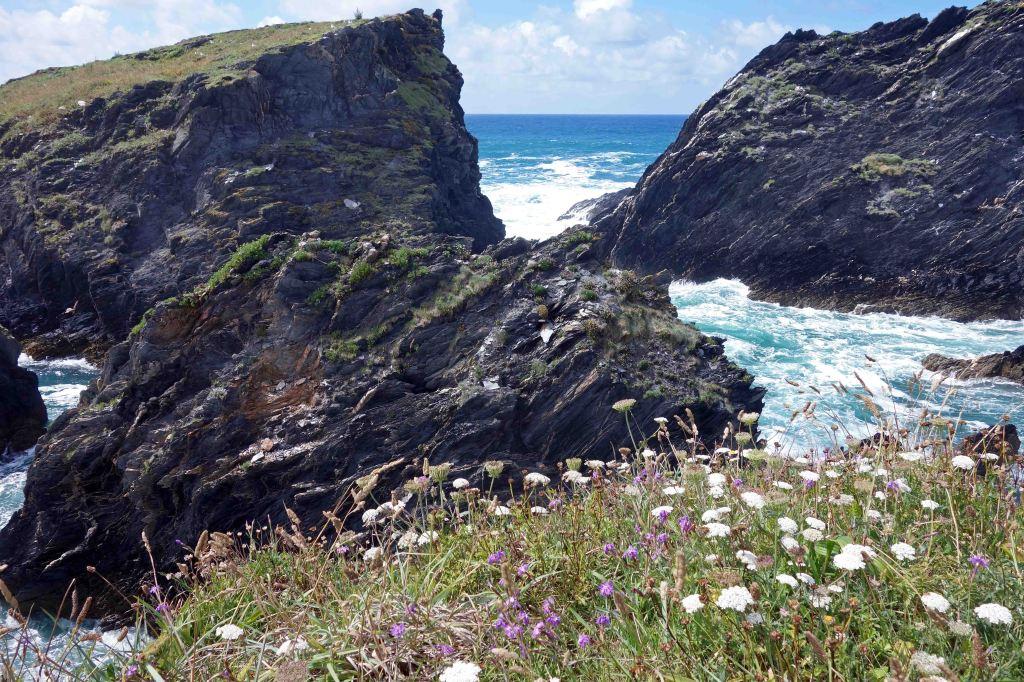 Cliffs near Playa de Esteiro, Galicia, NW Spain