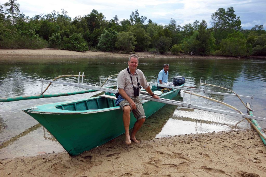 Boating in the mangroves   looking for the kingfisher