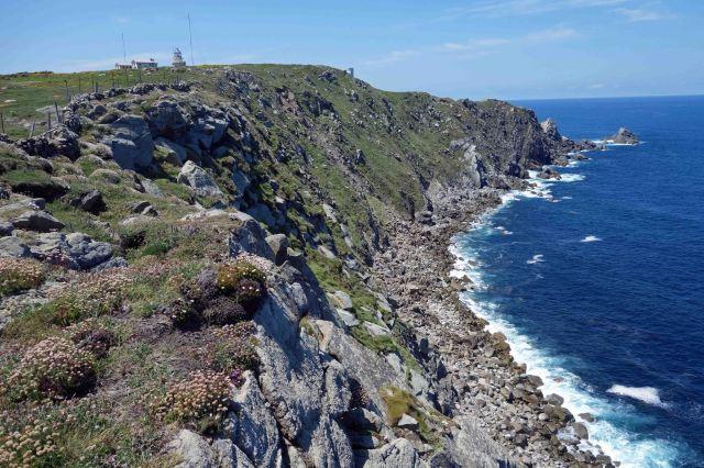 Coastline at the point (Punta de Estaca de Bares).