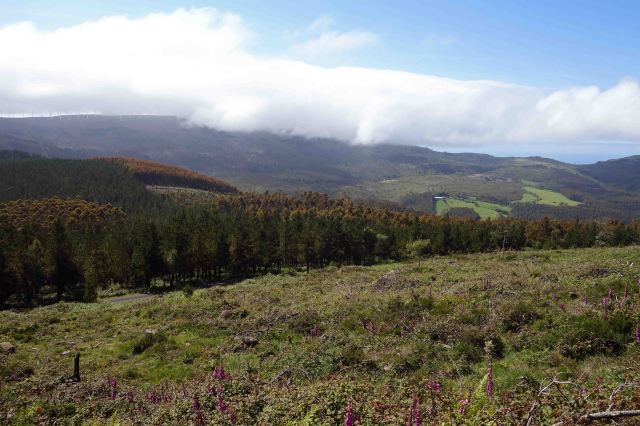 Serra da Capelada (Galicia, Spain) in cloud