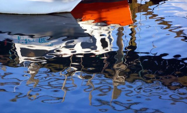 Harbour reflection