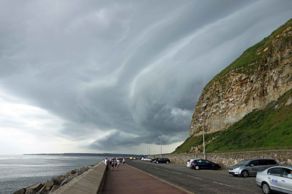 Marine Drive, Scarborough with dramatic clouds