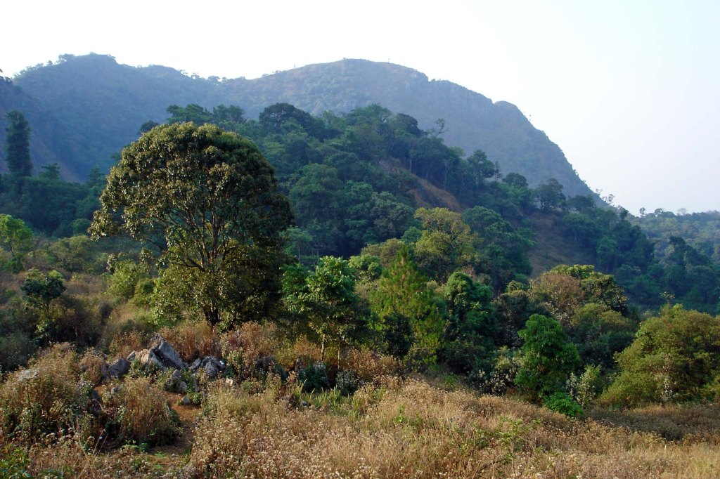View of Doi Chiang Dao (not the summit) on the way to the entrance to the park