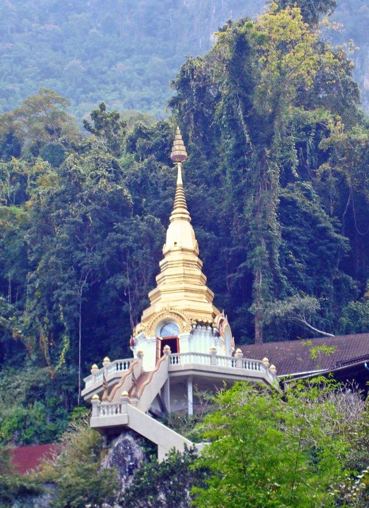 Pagoda at Wat Tham Pha Plong, Doi Chiang Dao, Chiang Mai, Thailand