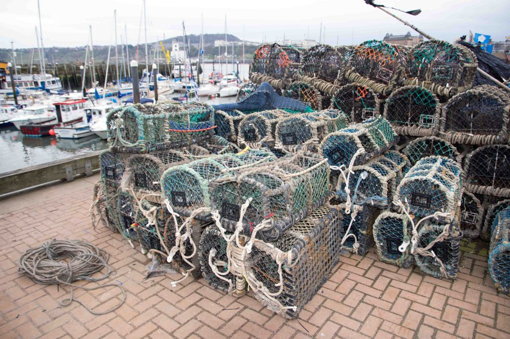 Crab pots or creels, Scarborough harbour